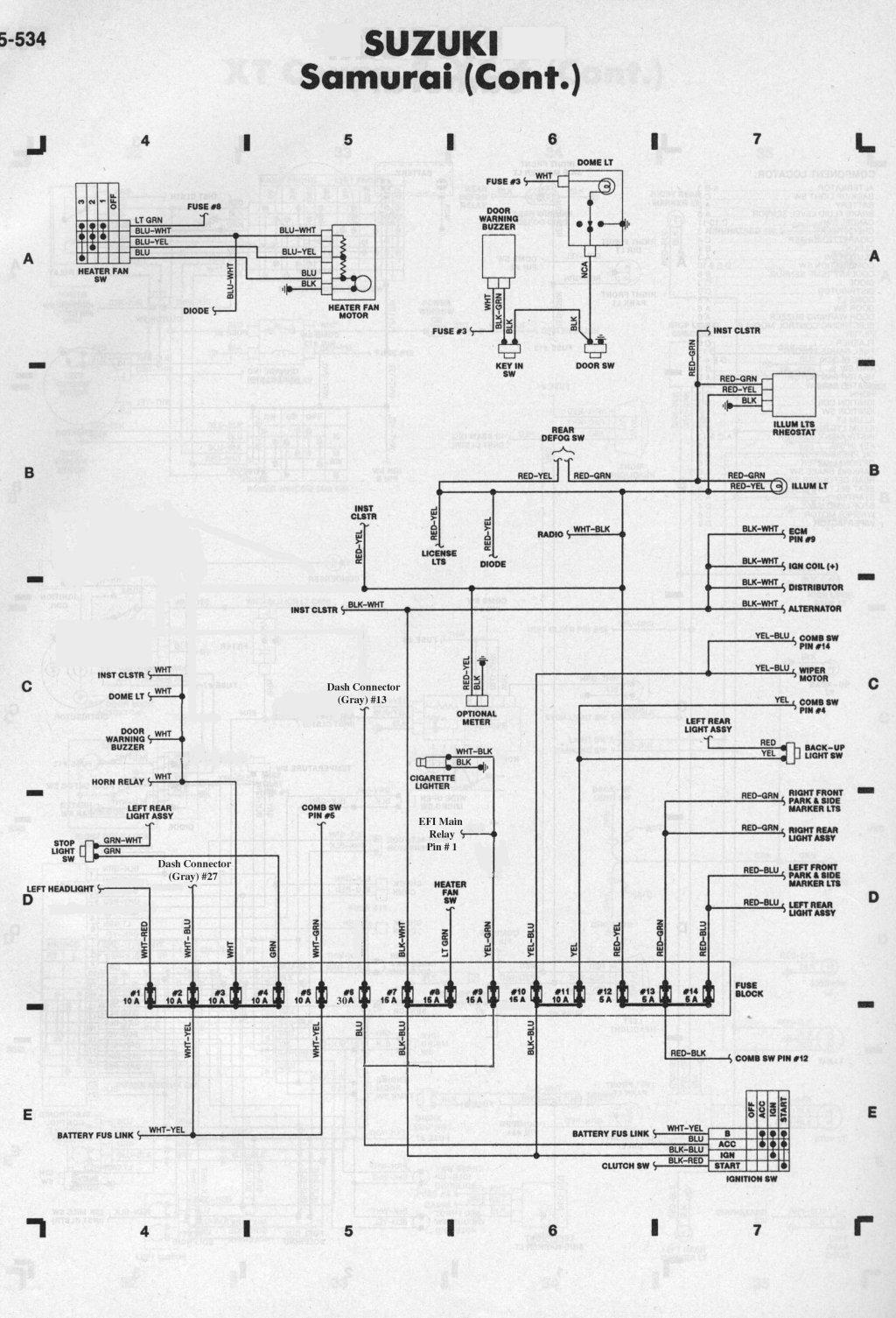 schema impianto elettrico sj 410